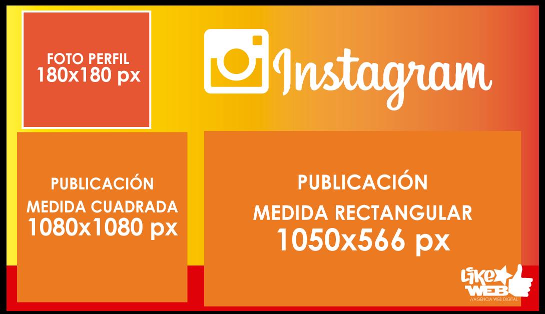 Likeweb -- Blog 5-- Tamaño Perfil y Publicación Instagram 2020